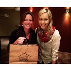 Lizzie presenting Sara Groves with her first Market Colors products! We love her!