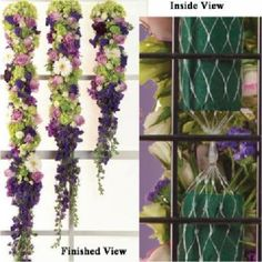 Floral Garlands; Make a floral garland just like a professional florist.  Pictures of various garlands and the supplies you need to make them.
