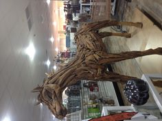 Spotted this at the store. Made of teak wood. Home Goods Store, Teak Wood, Wood Carving, Folk Art, Lion Sculpture, Crafts, Accessories, Wood Sculpture, Manualidades