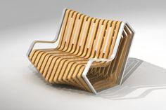 Un mueble moderno realizado con plano seriado
