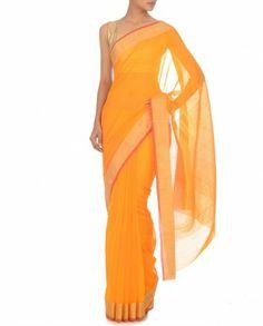 Coral & Orange Sari