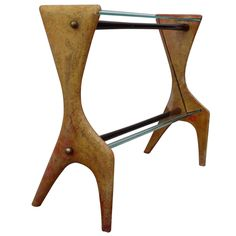 Aldo Tura Parchment Magazine Rack | From a unique collection of antique and modern magazine racks and stands at https://www.1stdibs.com/furniture/more-furniture-collectibles/magazine-racks-stands/