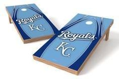 Kansas City Royals Single Cornhole Board - The Edge