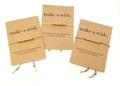 Wish Bracelet- Make a Wish Friendship Bracelet, Personalized Bridesmaid Gift, Big Little Sorority, Christmas Stocking Stuffer, Wishing on Etsy, $7.00