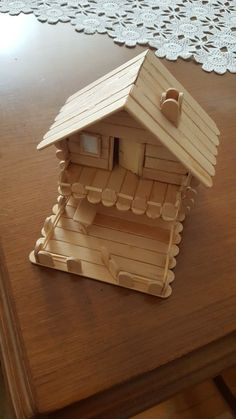 completely new plan bird house popsicle sticks design and style : These free birdhouse plans include all that you should make a birdhouse in your yard. There are detailed instructions, diagrams, photos, and materials. Popsicle Stick Houses, Popsicle Stick Crafts, Craft Stick Crafts, Wood Crafts, Diy And Crafts, Crafts For Kids, Ice Cream Stick Craft, Woodworking Toys, Wood Toys