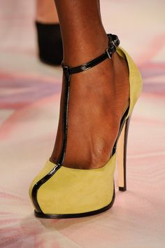 yellow and black shoes