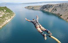 """Bungee Jumping from Maslenica Bridge- Zadar, Croatia"""