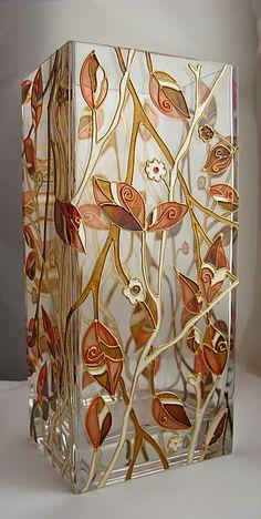 Hand painted vase by ElenaVitro
