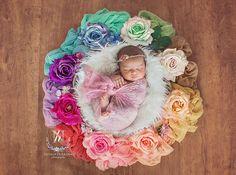 Digital Newborn Backdrop/ prop Rainbow Natalie by TheGardenDream