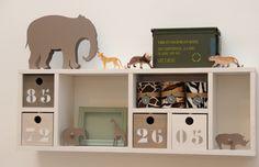 Kidsware accessoires voor een kinderkamer met safari thema.