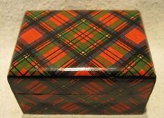 Tartan Ware Thimble Box - Prince Charlie from mountainthistleantiques on Ruby Lane