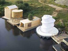 Kaluga floting sauna. Rintala Eggertsson Architects. colonitzant la natura.