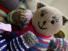 Cornelia has hand-knit 200 bears all of which have
