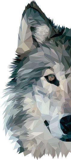 Αποτέλεσμα εικόνας για wolf low poly art