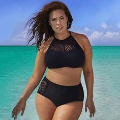 Plus Size 7XL Bikinis Women 2017 Sexy Bandage Bikini Mesh Insert Lace Swimsuits Women Beach Swimwear Brazilian Biquini