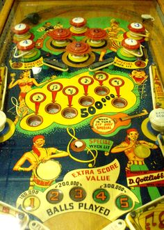 Vintage Lovely Lucy pinball game