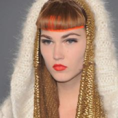 Gold head dress