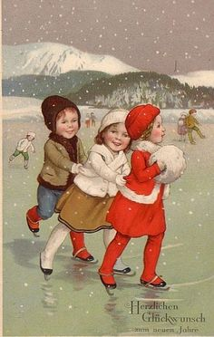 Ice skating children