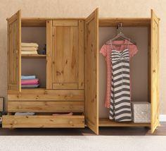 Best Margit Low Height Wardrobe 4 Door 3 Drawer White Low 640 x 480