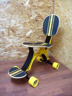 Silla de escritorio para skaters.