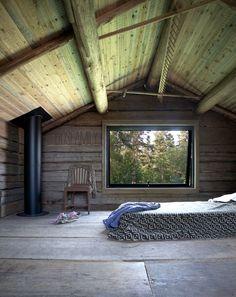 sauna, sweden sauna, black sauna, härbre, isabelle mcallister, dosfamily, cottage sauna, cabin, cabin sauna, svart bastu, fönster, trä, wood, timber, diy, make a sauna, guset house, gärst rum, woods, view,