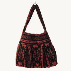 borsa donna a spalla, borse fatte a mano, tessuto lana borsa italiana, made in italy, borsa bordeaux nera di BBagdesign su Etsy