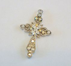 Vintage Cross Pendant Filigree Aurora by MaisonChantalMichael