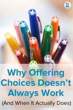 Why Offering Choices to Preschoolers Doesn't Always Work (And when It Actually Does)