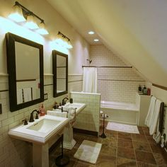 Traditional Bathroom Attic Bathroom Design, Pictures, Remodel, Decor and Ideas - page 7