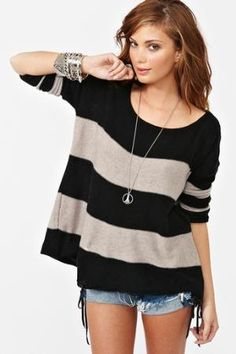 Slouchy Stripe Knit in Clothes Tops at Nasty Gal