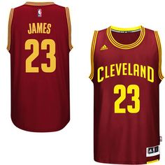 c1c95790f Men s Cleveland Cavaliers LeBron James adidas Burgundy Player Swingman Road  Jersey James Lebron