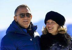 Daniel Craig and Léa Seydoux at the Austrian ski resort of Sölden for SPECTRE (2015).