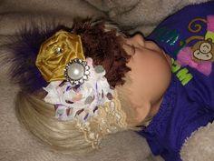 New Fall Autumn Days Lace Headband for Newborn by BrownSugaTutus, $14.00