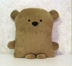 Kawaii Teddy Bear Pillow. could do a variation of cat buddy like this