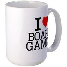 I Love Board Games Mugs on CafePress.com