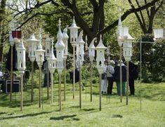 """Der """"Art of Eden"""" im Botanischer Garten präsentiert Kunst für Terrasse und Garten. Das Foto aus dem vergangenen Jahr zeigt Arbeiten von Martin Görgner."""