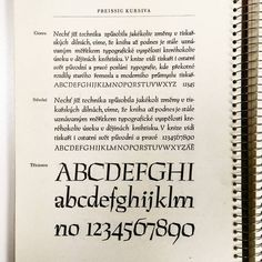 Preissig Antiqua Kursiva by Vojtěch Preissig for Czech State Printing Office in Praque, 1925