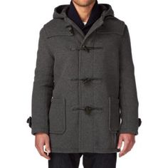 $288, Charcoal Duffle Coat: Mid Duffle Jacket Grey by Gloverall. Sold by Surfdome. Click for more info: http://lookastic.com/men/shop_items/243027/redirect