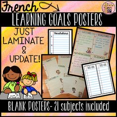 Classroom Calendar, Classroom Jobs, New School Year, Back To School, French Prepositions, Reading Strategies Posters, Math Word Walls, Blank Poster, Schedule Cards