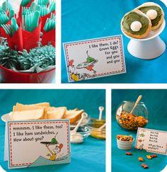 Dr. Seuss themed party ideas.