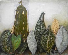 collage, linocut, acryl on canvas, www.anamariagruia.ro