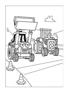 Byggmester Bob Fargelegging for barn. Tegninger for utskrift og fargelegging nº 32
