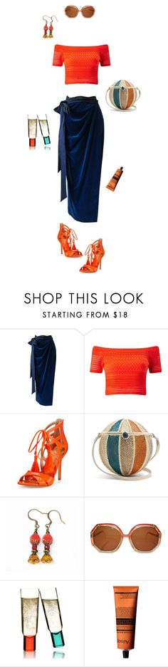 """He got it"" by fia-sim-77 ❤ liked on Polyvore featuring Versace, Miss Selfridge, Sam Edelman, Sophie Anderson, Ted Lapidus, Sagaform, Aesop, orangeoutfit, PolyvoreContestEntry and popsoforange"