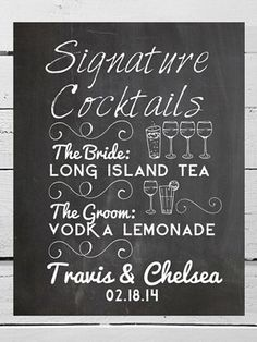 Signature Cocktails « SHEfinds Bella Wedding, Wedding Pics, Wedding Blog, Dream Wedding, Sydney Wedding, Wedding Games, Wedding Reception Decorations, Wedding Planning, Wedding Signage