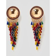 Metal And Gl Earrings View All Accessories Woman Zara Italy 1 325