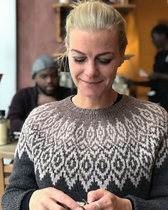 Iloq is a fair isle sweater with a relaxed fit and round yoke. The sweater is worked seamlessly top down in one piece. Icelandic Sweaters, Fair Isle Knitting Patterns, Christmas Crochet Patterns, Stockinette, Diy Face Mask, My Beauty, Camilla, Knit Crochet, Inspiration
