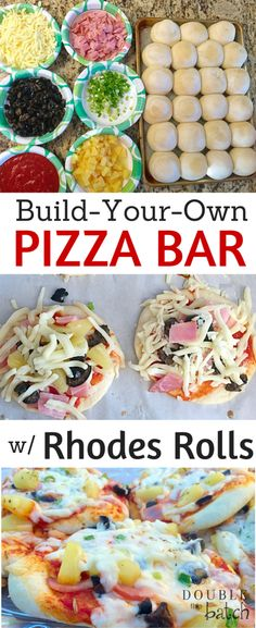Hands down my kids favorite Friday night meal! These Rhodes Rolls mini pizzas are a hit with kids!