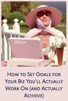 How to set goals for your biz you'll actually WANT to work on and actually ACHIEVE. Megan Raynor for Brand Babes Studio Setting Goals, Business Tips, Knowing You, Knowledge, Advice, Female, Studio, Blog, Tips
