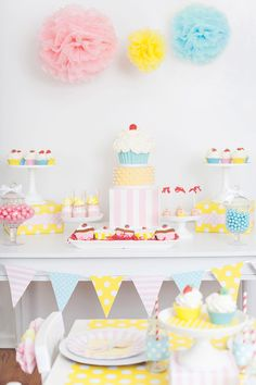 Cute as a Cupcake Girly Sweets Party