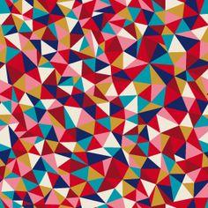 Tissu Kaléidoscope coloris Pomme d'amour par Aime comme Marie, 20x140 cm - Tissus personnalisés/Aime comme Marie - Motif Personnel